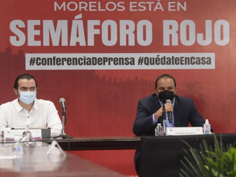 Morelos regresa a semáforo rojo por COVID-19