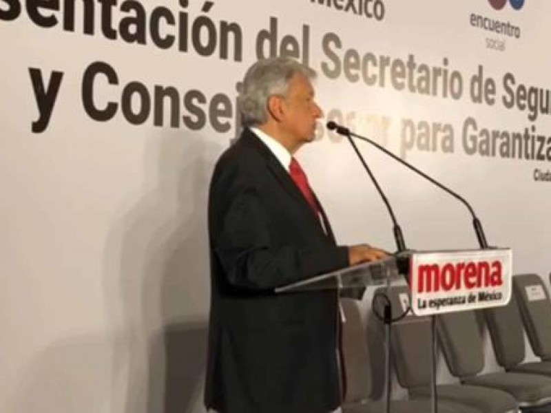 Morena apoyará el nuevo plan de seguridad