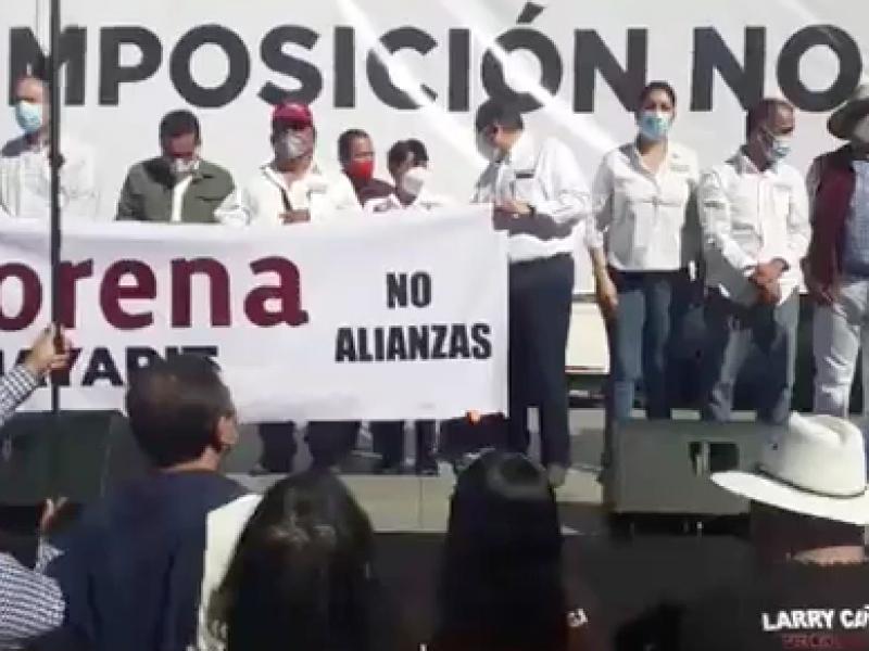 MORENA convocó a militantes ante imposición de candidato a gobernador