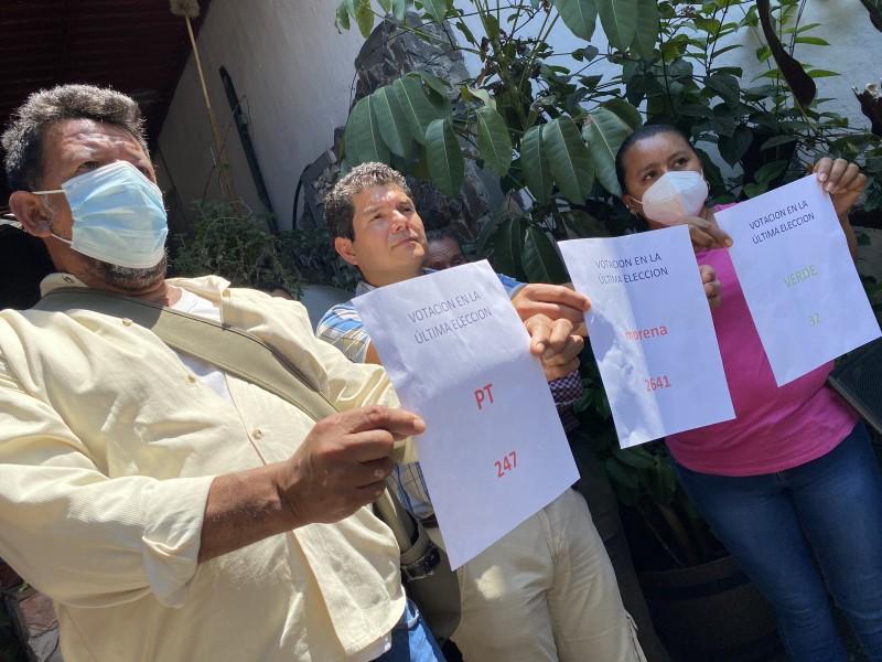 Morenistas acusan imposición de candidato a alcalde de Cosautlán