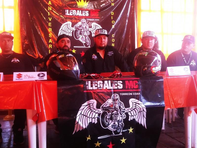 Moto Club Ilegales celebra primer aniversario