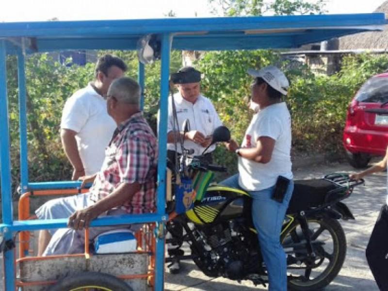 Motocicleros sin regulación en Tuxtla Chico