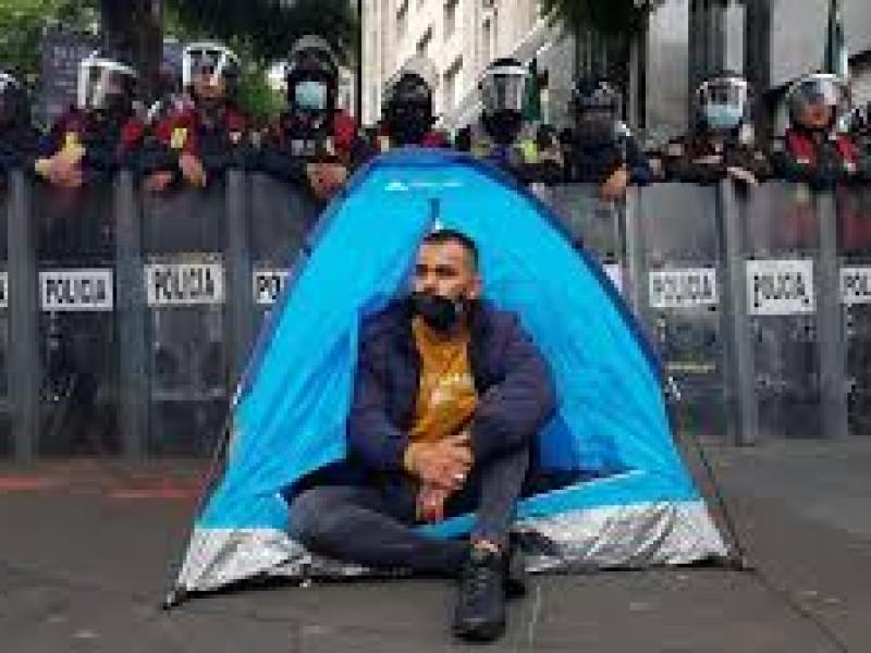 Movimiento anti AMLO instala campamentos