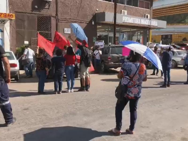 Movimiento Antorchista se manifiestan en Sindicatura, solicitan terrenos