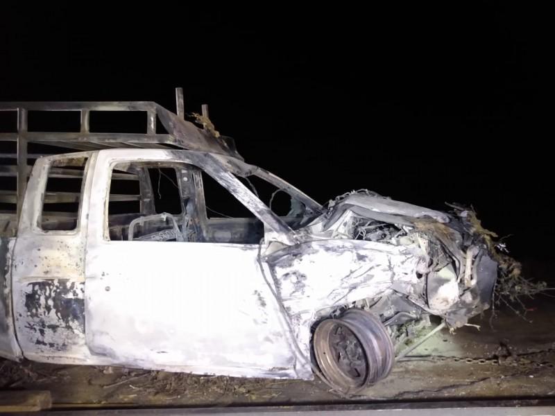 Muere calcinado durante accidente en Huitzo