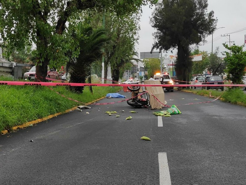 Muere comerciante en accidente