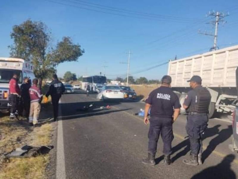 Muere en accidente masculino en la Acajete-Amozoc