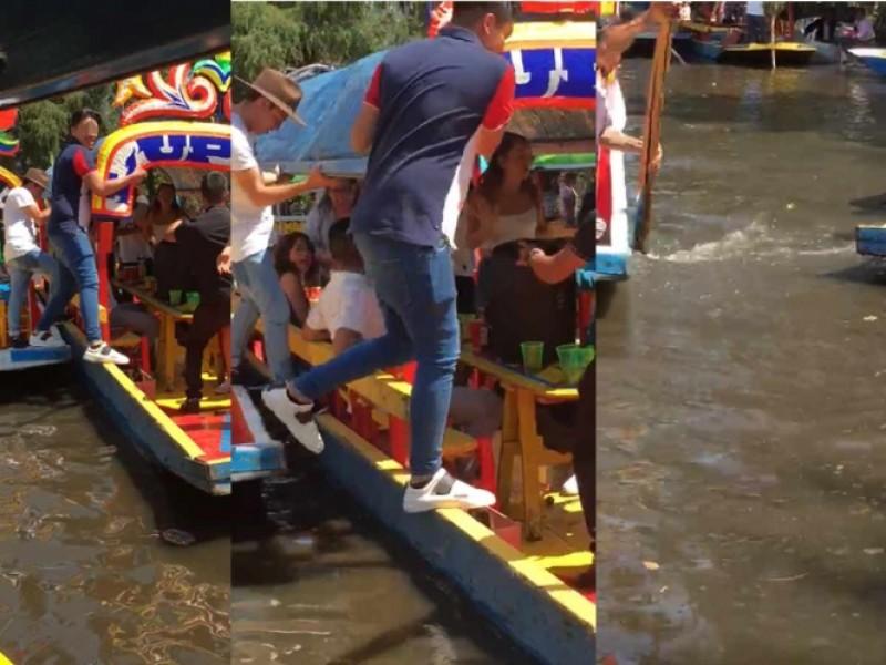 🚨📹Muere joven ahogado en Xochimilco; cayó de trajinera