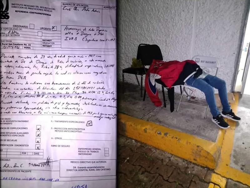 Muere paciente en sillas del Hospital Civil de Tepic
