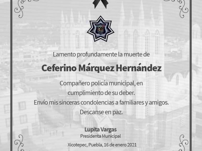 Muere policía municipal de Xicotepec tras enfrentamiento