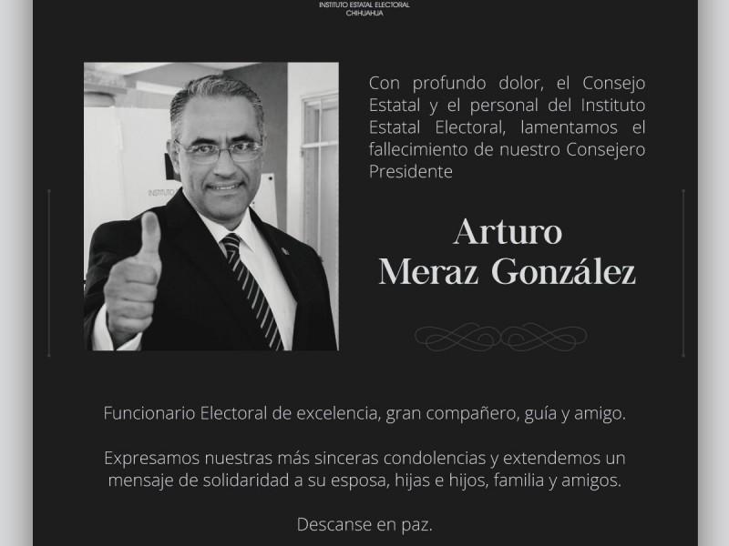 Muere por COVID-19 el presidente del IEE de Chihuahua