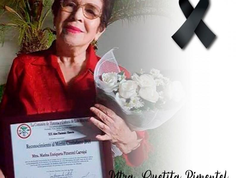 Muere Quetita Pimentel, pionera del ballet clásico en Los Mochis