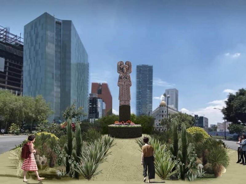Mujer gobernante de Amajac, sustituirá estatua de Colón