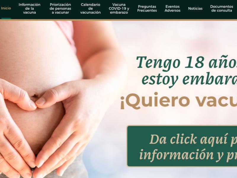 Mujeres embarazadas serán vacunadas contra el Covid19