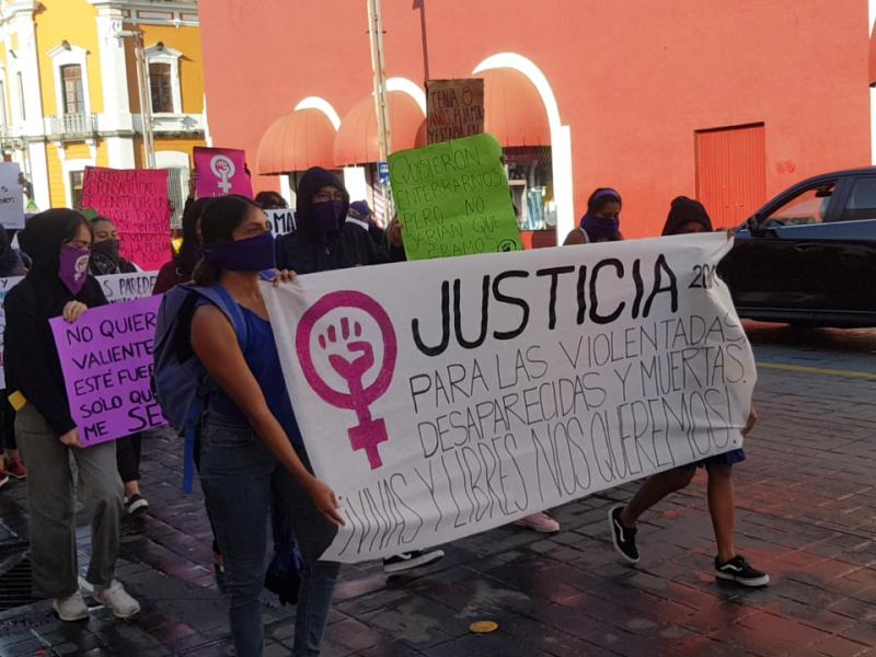 Mujeres nayaritas se unen a marcha nacional