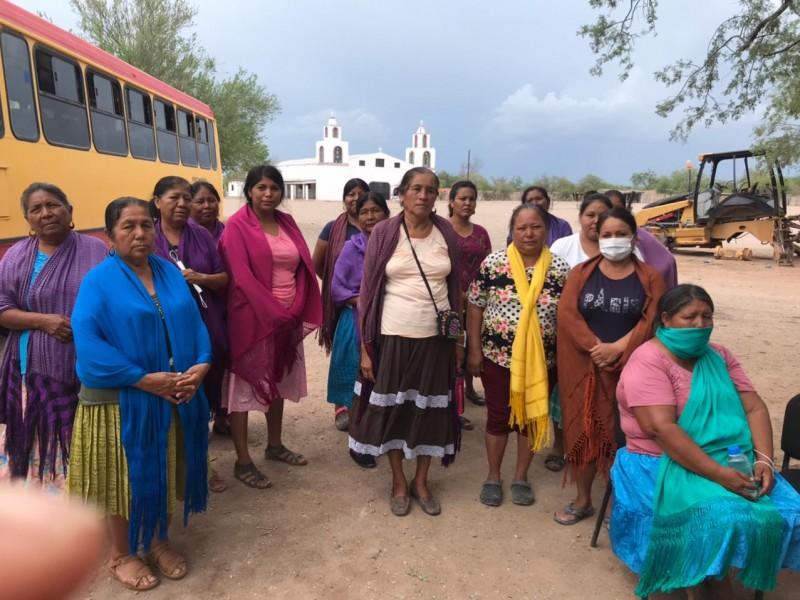 Mujeres yaquis exigen regreso de desaparecidos