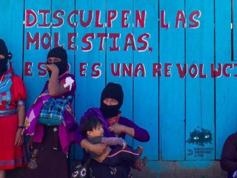 Mujeres zapatistas se sumaron a #UnDíaSinNosotras