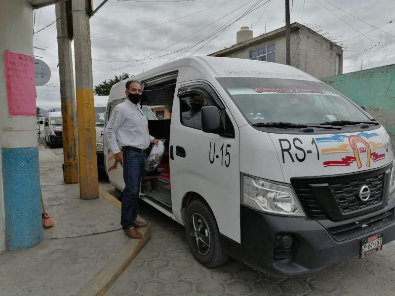 Multan a 240 operadores de transporte público por rebasar capacidad