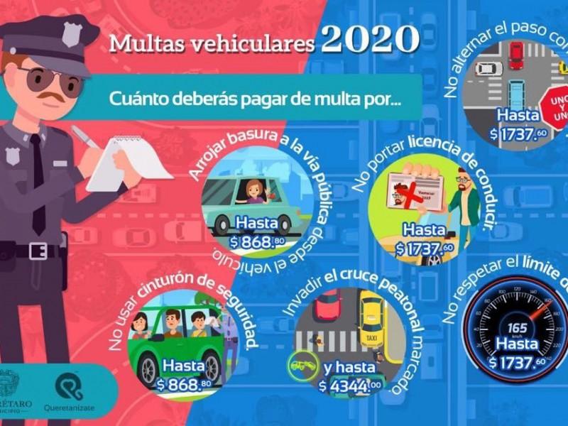 Nuevo catalogo de multas  para este 2020
