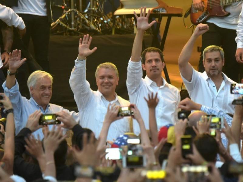 Multitudinario concierto 'Venezuela Aid LivE'