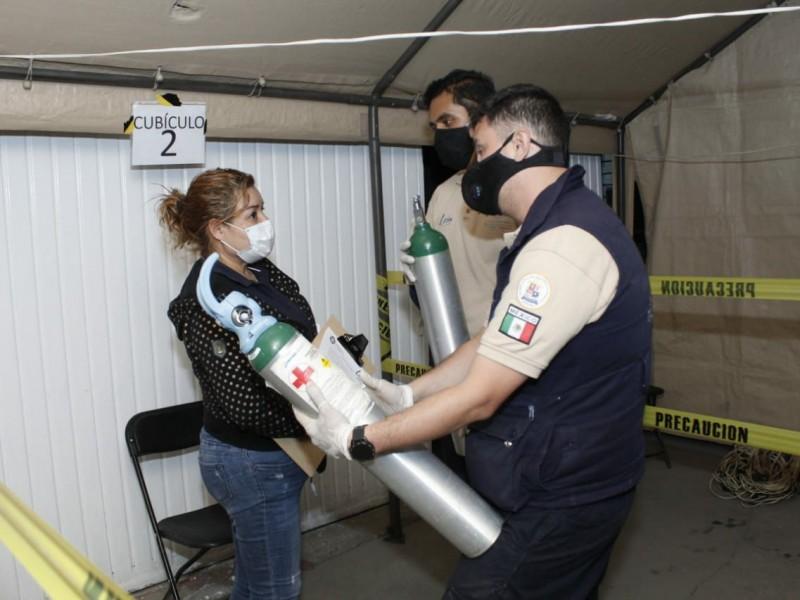 Municipio Abastece con oxigeno medicinal