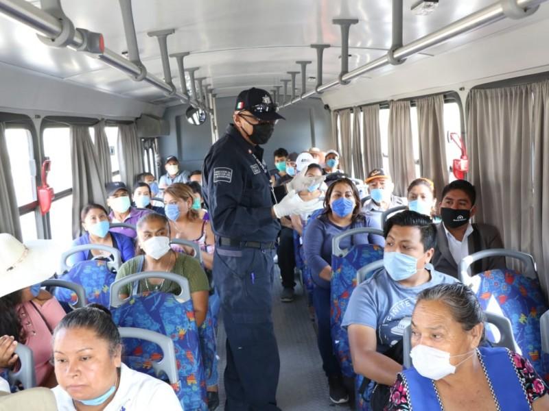 Municipios deberán apoyar en operativos de transporte con policías