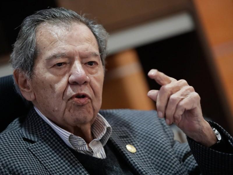 """Muñoz Ledo acusa """"golpe de Estado"""" en caso Zaldívar"""