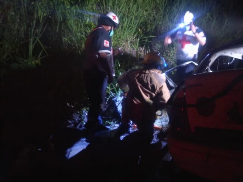 Murió conductor luego de accidente en la Tuxpan-Tampico