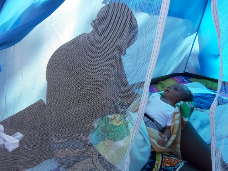 Nace primer bebé africano en Estación Migratoria