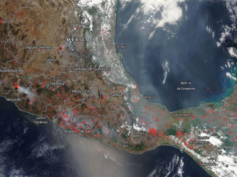 NASA detecta ruta de humo por incendios