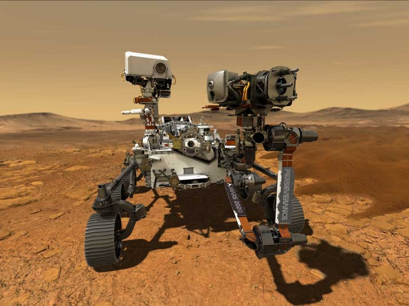 NASA revela video de su rover Perseverance en Marte