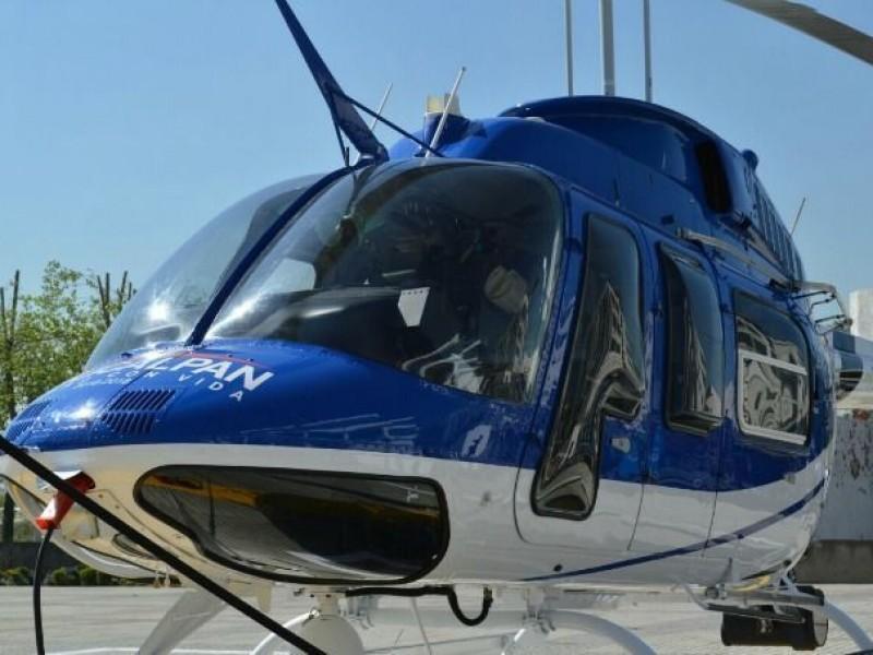 Naucalpan venderá helicóptero para saldar adeudos