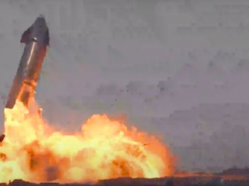 Nave de Starship de SpaceX explota justo al aterrizar