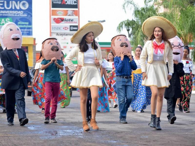 Navojoa celebra 109 Aniversario de la Revoluciòn Mexicana