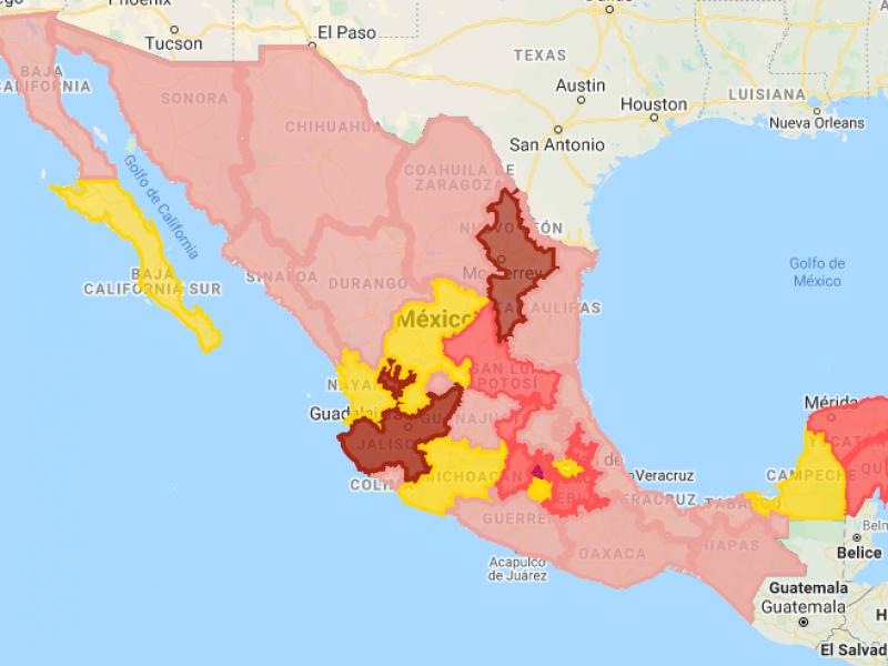 Nayarit entre los estados sin casos confirmados de COVID-19