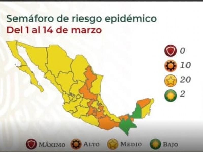 Nayarit pasa a amarillo en el semáforo epidemiológico