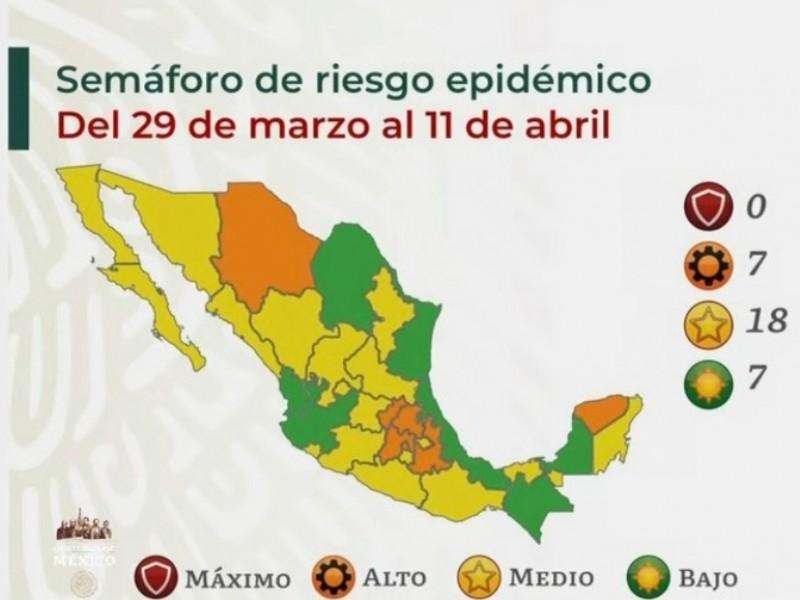 Nayarit pasa a color verde en el semáforo epidemiológco COVID-19