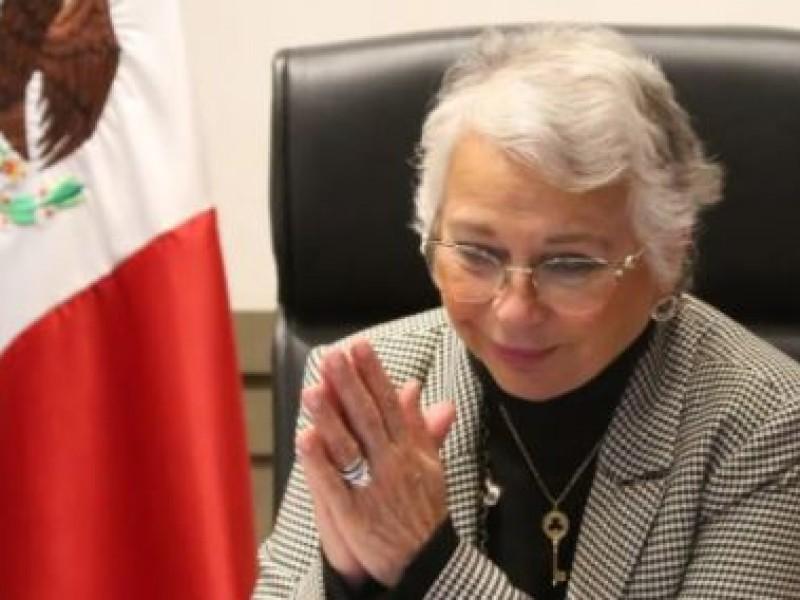 Olga Sánchez Cordero no tiene coronavirus, confirma prueba PCR