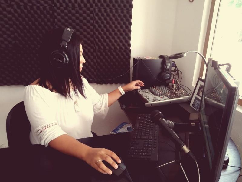 Nelsy Valenzuela,la voz de radio indígena Ínapo Yoreme
