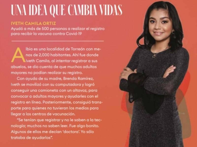 Niña lagunera entre las mujeres más poderosas de México