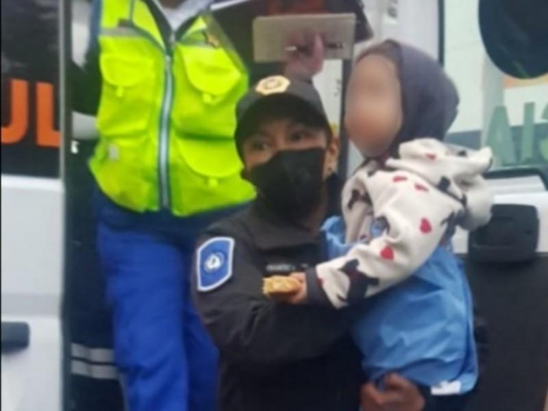 Niño de 2 años caminaba solo en Periférico; es rescatado