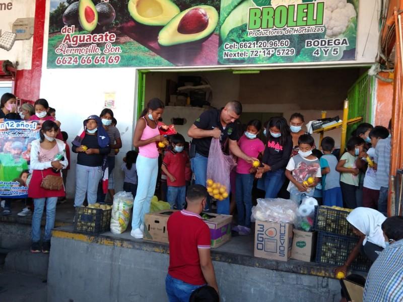 Niños del desayunador Miguel Alemán solicitan apoyo a comerciantes