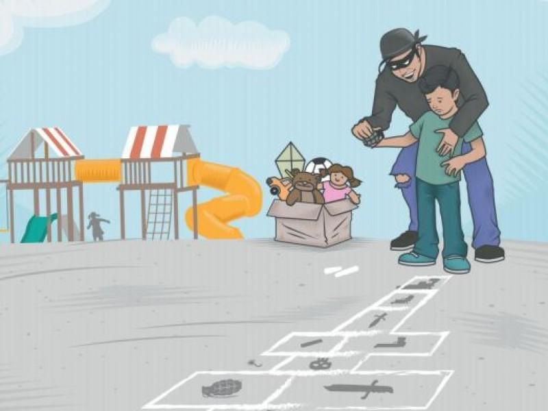 Niños michoacanos amenazados por el crimen organizado