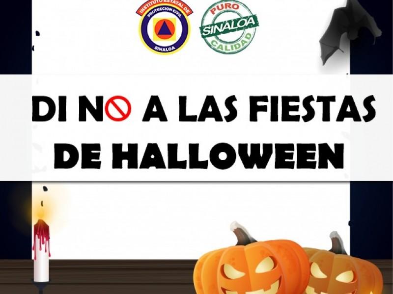 No a las fiestas de Halloween: Protección  Civil