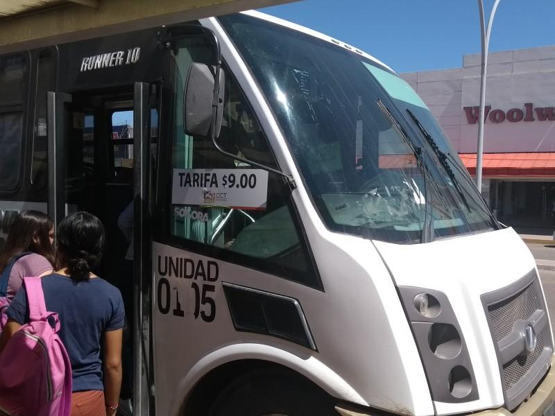 No bajarán tarifa en transporte urbano de Navojoa