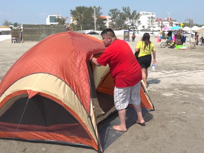 No se permitirá acampar en playas de Veracruz