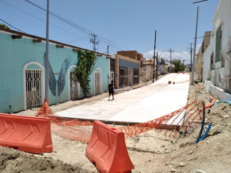 Inconformes por pavimentación en calle del centro de SJC