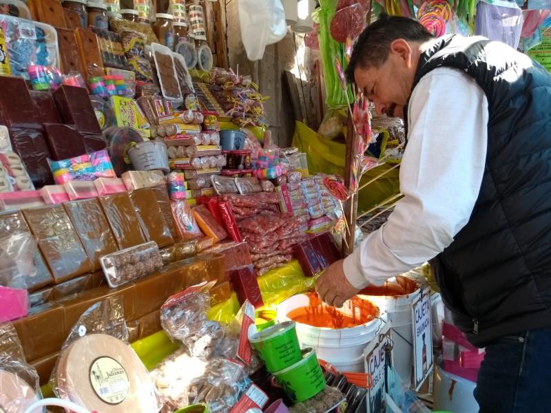 No se venden igual dulces tradicionales por desabasto