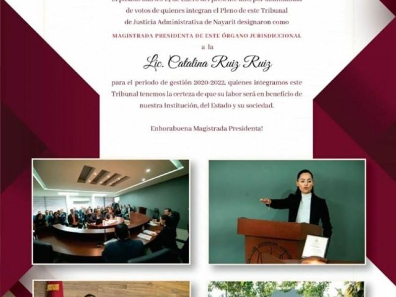 Nombran a Catalina Ruíz presidenta del tribunal administrativo