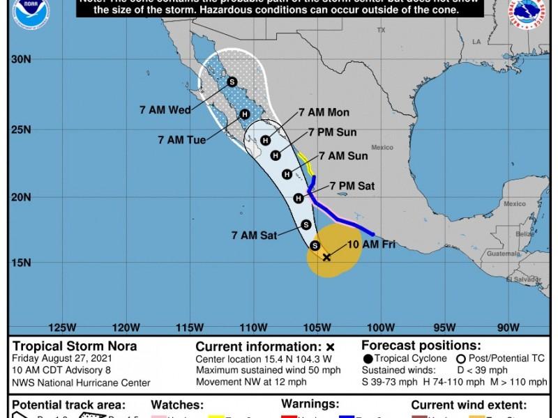 Nora mañana podría ser huracán